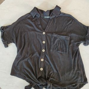New Kim and Cami Top Button down tied blouse